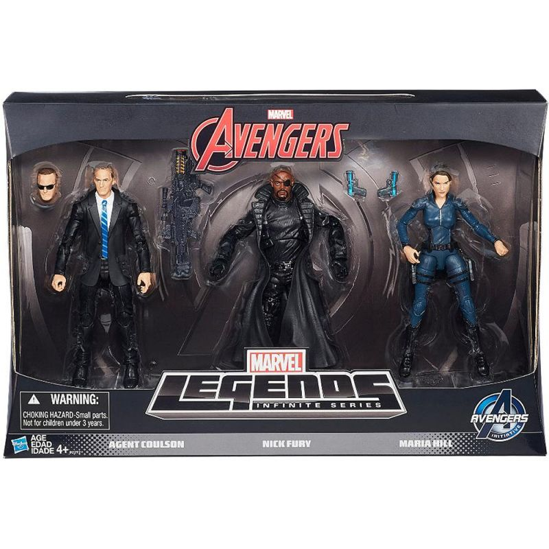 Agent Phil Coulson, Nick Fury & Maria Hill (S.H.I.E.L.D. Pack)