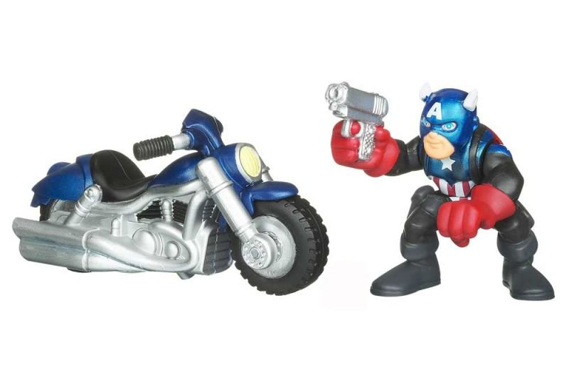 Captain America & Motocycle