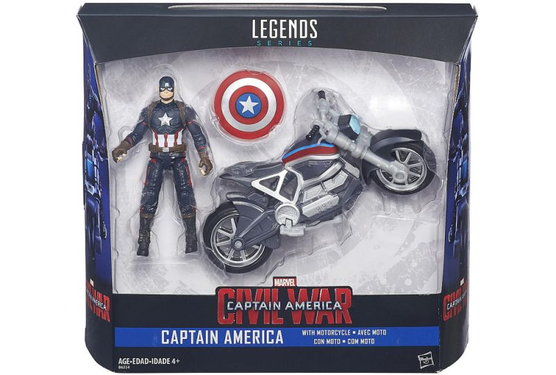 Captain America with motorcycle